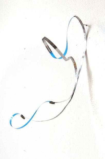 steel, pvc foil, aluminium 41 x 24 x 82 cm